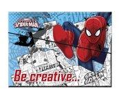 Zestaw kreatywny w teczce Spider man