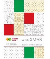 Blok Effect White Christmas 10 arkuszy mix wzorów