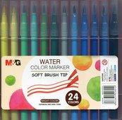 Pisak artystyczny pędzelkowy 24 kolory M&G