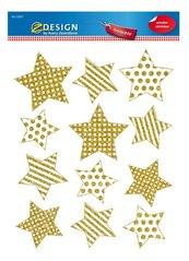Naklejki foliowe - Złote gwiazdki na okno