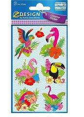 Naklejki papierowe - Ptaki tropikalne