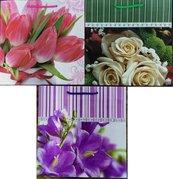 Torebka ozdobna laminowana PL-5 zestaw 55 kwiaty