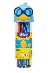 Flamastry Kaczka - niebieskie 12 kolorów STRIGO