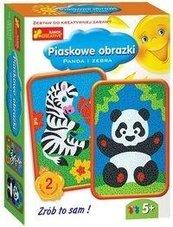 Piaskowe obrazki - Panda i Zebra