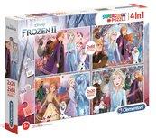 Puzzle 2x20+2x60 Super kolor Frozen 2