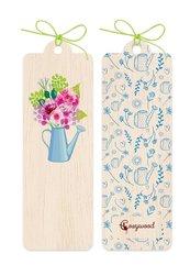 Zakładka drewniana Kwiaty w konewce