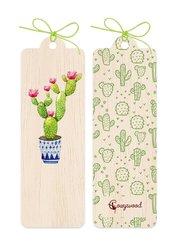 Zakładka drewniana Kaktus
