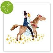 Karnet kwadrat z niespodzianką Ślub Koń