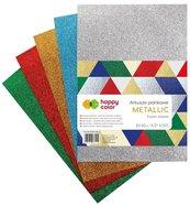 Arkusze piankowe A4 5 kolorów Metalic HAPPY COLOR