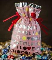 Worek I love chocolate Róż 20x30cm (5szt) PAKADO