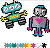 Puzzelki Pixelki Jixelz 700 elem. -roboty