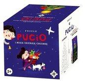 Puzzle - Pucio i Misia ubierają choinkę