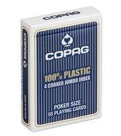 Karty do gry Copag 100 % Plasic 4 corner jumbo Index niebieskie