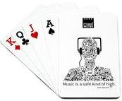 Music Karty do gry białe słuchawki 55 kart