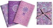Purple&Pale Zeszyt A6/32 strony gładki 3szt