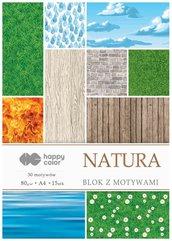 Blok z motywami Natura A4/15K 80g HAPPY COLOR