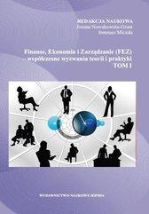 Finanse, Ekonomia i Zarządzanie (FEZ).. T.1