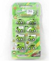 Zestaw autek zielonych 8 szt