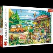Puzzle 500 Poranek na wsi TREFL