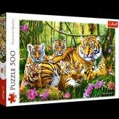 Puzzle 500 Rodzina tygrysów TREFL