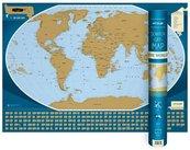 Mapa zdrapka - Świat/The Word 1:50 000 000 w.ang