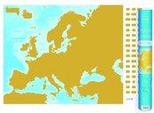 Mapa zdrapka - Europa 1:9 000 000