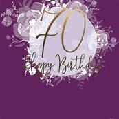 Karnet kwadrat CL0970_SG Urodziny 70