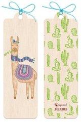 Zakładka drewniana Lama