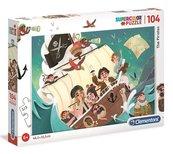 Puzzle 104 Super kolor The Pirates