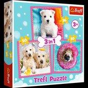 Puzzle 3w1 Pieski w kąpieli TREFL