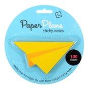 Paper Plane - karteczki samoprzylepne - żółte