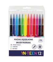 Mazaki pędzelkowe 12 kolorów YN TEEN