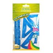 Zestaw geometryczny Flexi z linijką 20cm CRICCO