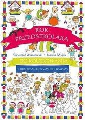 Rok przedszkolaka do kolorowania..