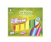 Plastelina 6 kolorów fluorescencyjna CRICCO