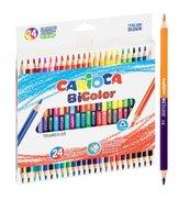 Kredki ołówkowe trójkątne BiColor 24/48 CARIOCA