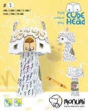 Lama. Cube head. Złóż i pokoloruj