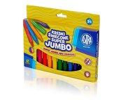 Kredki świecowe Super Jumbo 12 kolorów ASTRA