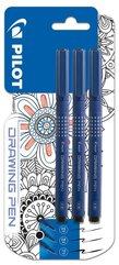 Marker do rysowania Drawin pen BLX3 3szt PILOT