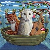 Karnet kwadrat z kopertą The Owl and the Pussycat