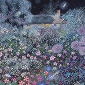 Karnet kwadrat z kopertą Midnight Garden
