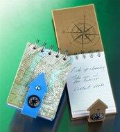 Kołonotes z kompasem Nowy Jork