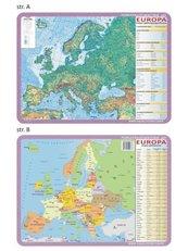 Podkładka edu. 063 - Europa mapy fizyczna i pol.