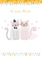 Karnet B6 Ślub - Koty