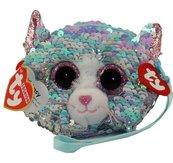 Ty Fashion - cekinowa torba na nadgarstek Kot