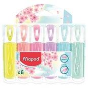Zakreślacz Fluo Peps pastel 6 kolorów MAPED