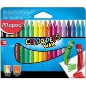 Kredki Colorpeps świecowe 18 kolorów MAPED