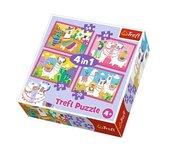 Puzzle 4w1 Lamy na wakacjach TREFL