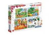 Puzzle 20+60+100+180 Super kolor 4 seasons