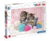 Puzzle 104 Super kolor Sweet kittens